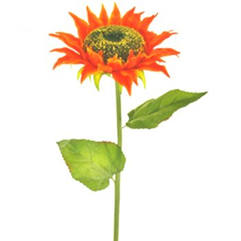 artificial-sunflowers-stem-autumn-orange