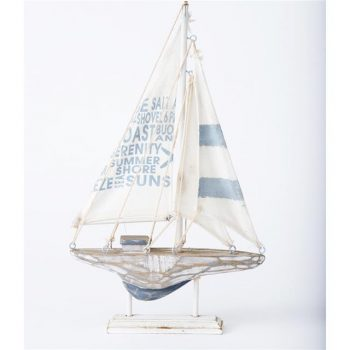 Rustic Sailing Boat Wooden Yacht