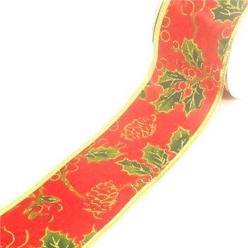 ChristmasHolly Satin Ribbon