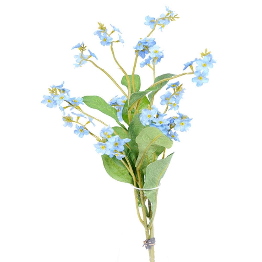 2 Artificial Forget Me Nots Flower Bundle Blue Shelf Edge