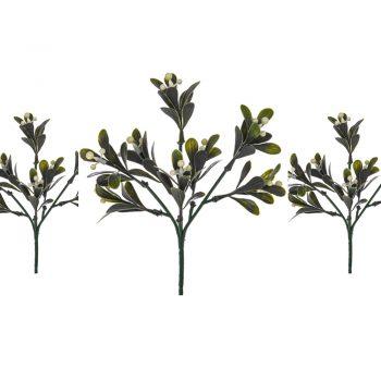 Pack of 3 artificial mistletoe picks