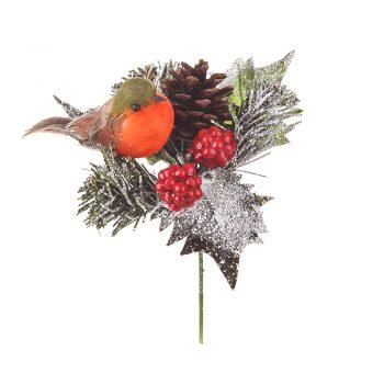 Robin Christmas Pick