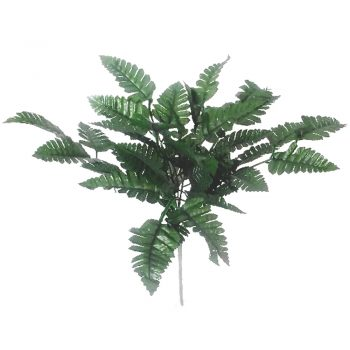 leather artificial fern bush