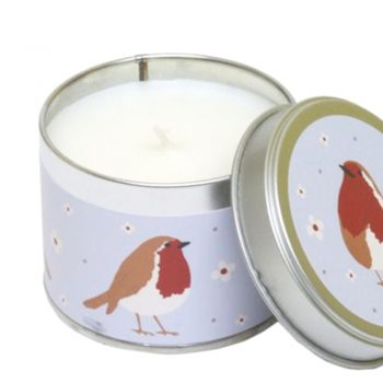 alpine scented robin candle