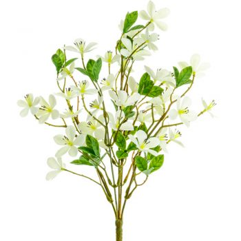 Cream Artificial Plum Blossom Spray