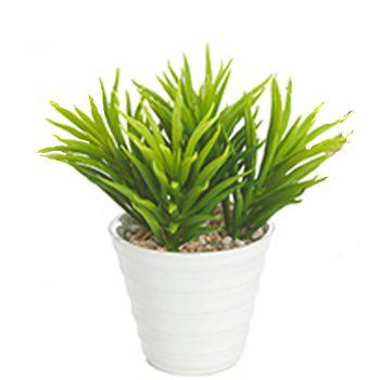artificial succulent in pot