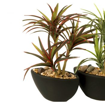 artificial yucca plant in pot
