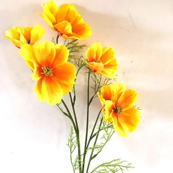 Artificial Yellow Cosmos Spray