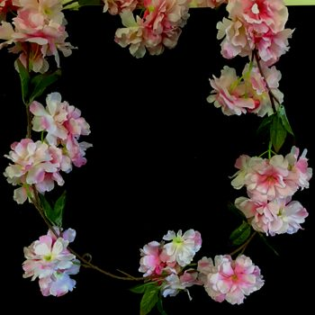 pale pink hanging blossom garland