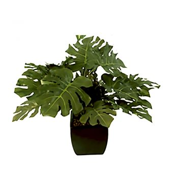 Artificial Potted Monstera Leaf Plant