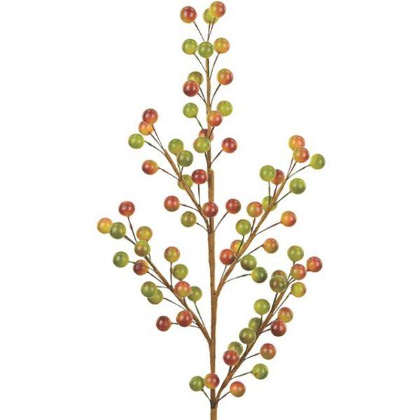 Artificial Brown Green Autumn Berry Spray