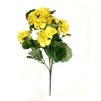 Artificial Yellow Geranium Plant