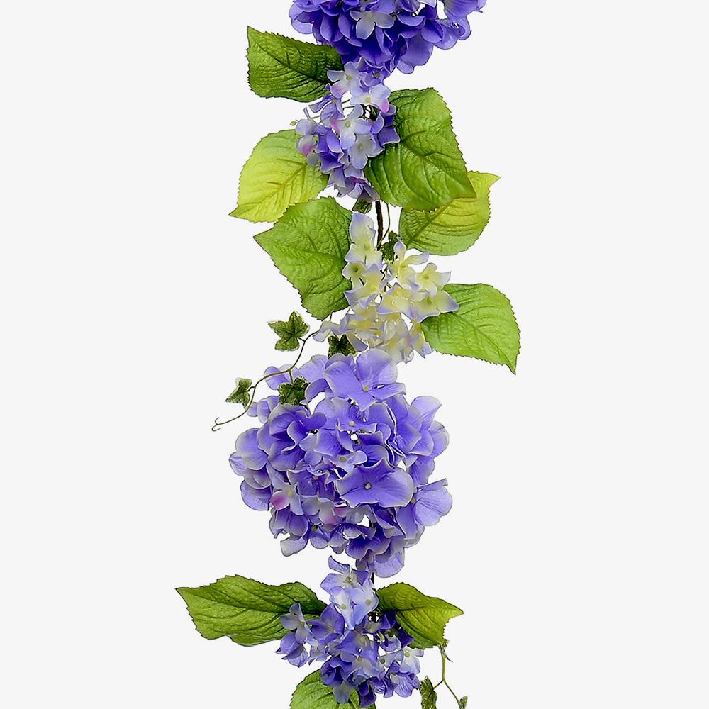 6ft Premium Hydrangea Flower Garland Artificial Flowers