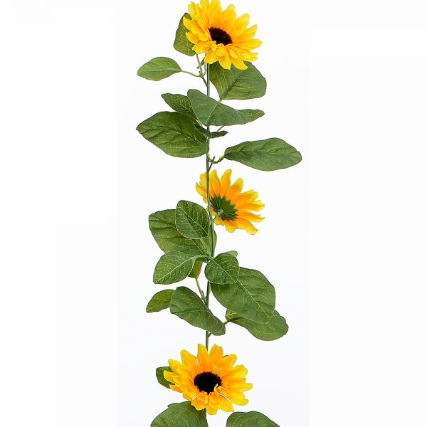 Artificial Sunflowers Garland 150cm