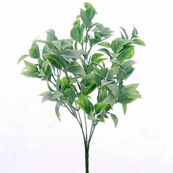 Artificial Ruscus Bush Plant Green