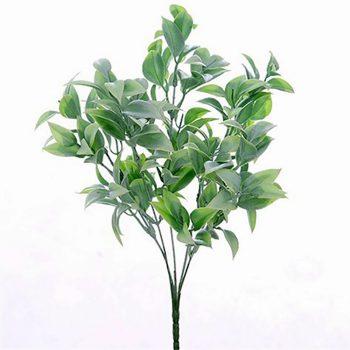 Artificial Ruscus Bush Plant Green