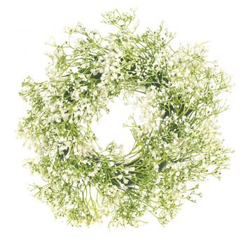 artificial gypsophila wreath