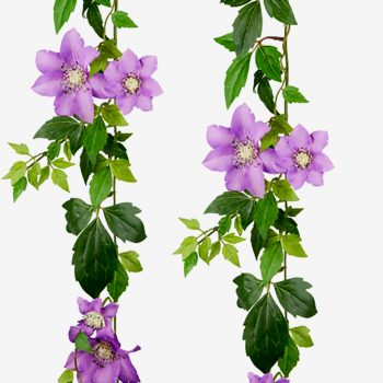 lilac artificial clematis garland