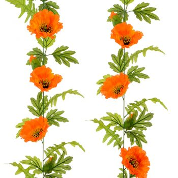 Artificial Poppies garland Orange Flowers