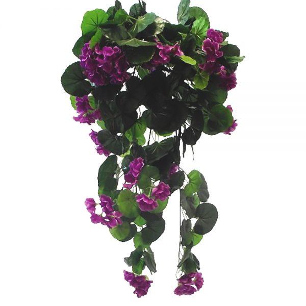 Artificial Purple Trailing Geranium Plant
