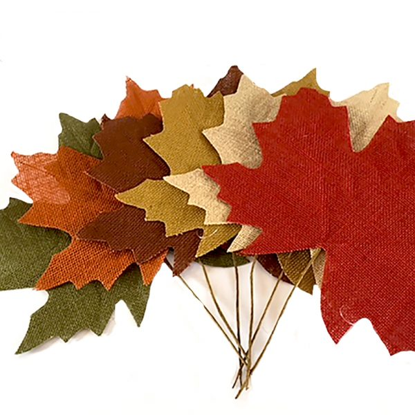 hessian artificial maple leaves