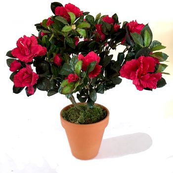 Artificial Fuchsia Pink Azalea Plant