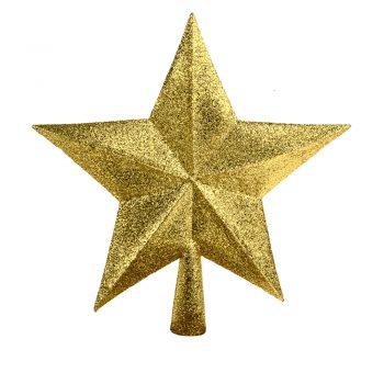 Sparkle Star Tree Topper Gold