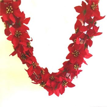 6ft artificial Poinsettia garland