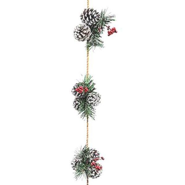 Merry Berry Pinecone Garland