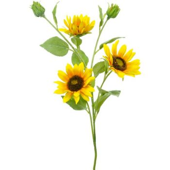Yellow-Artificial-Sunflowers-Spray