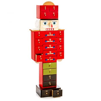 wooden nutcracker christmas advent calendar