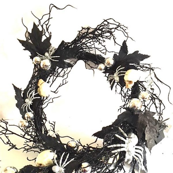 artificial twig Halloween garland with lights