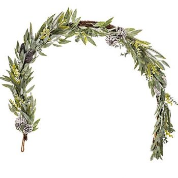 mixed leaf pinecone garland