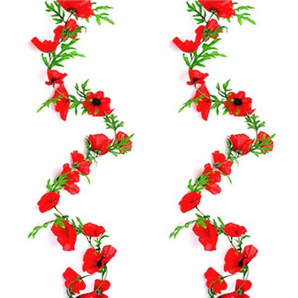 artificial poppy garland