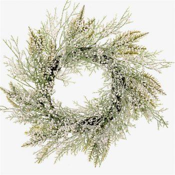 artificial snowdrop wreath