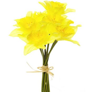 realistic artificial daffodils bunch
