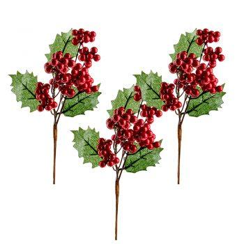 artificial Christmas holly picks