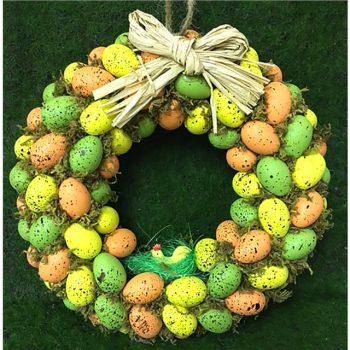 Bright Easter egg wreath