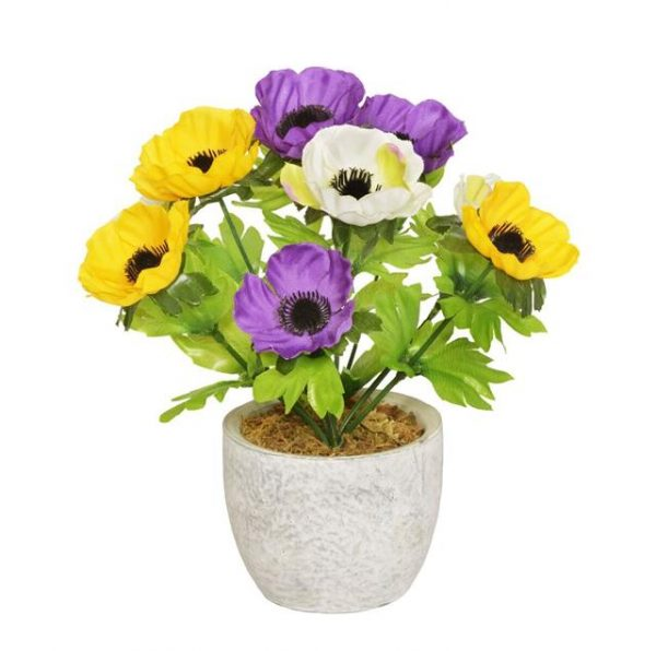Artificial Potted Anemone Plant