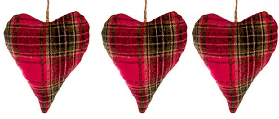 hanging tartan Christmas decorations