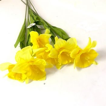 artificial yellow daffodils bundle