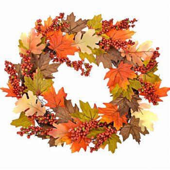 autumn maple leaf wreath