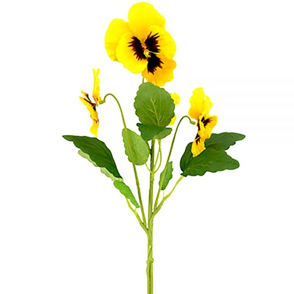 artificial yellow pansy stem