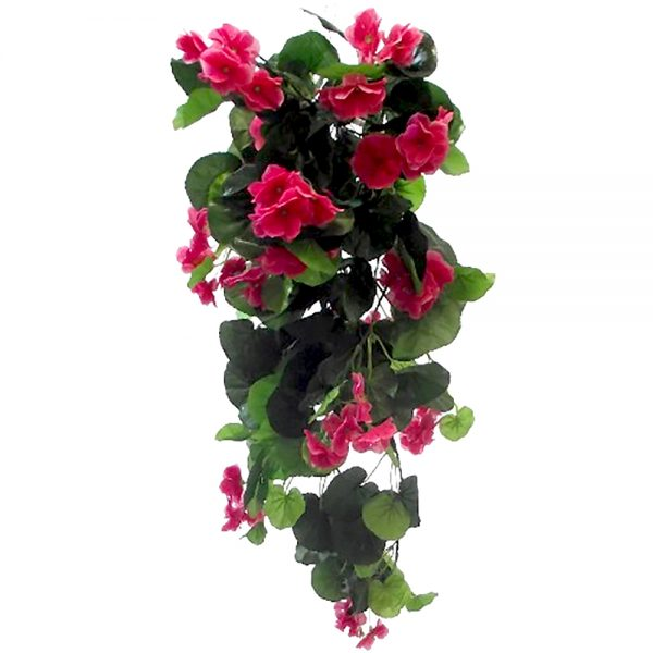 trailing geranium flowers for artificial hanging baskets