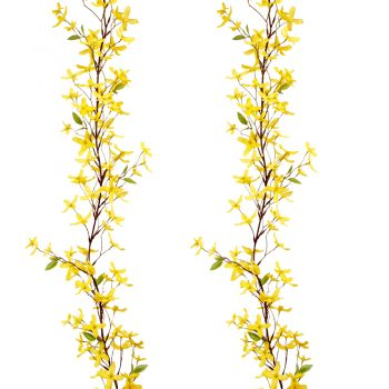 yellow silk forsythia garland