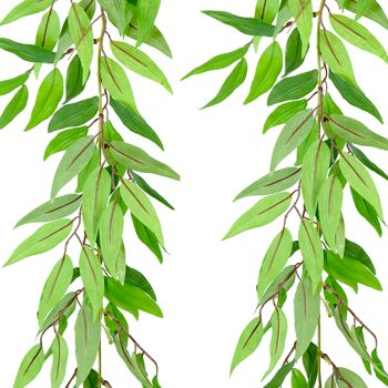 green artificial ruscus garland