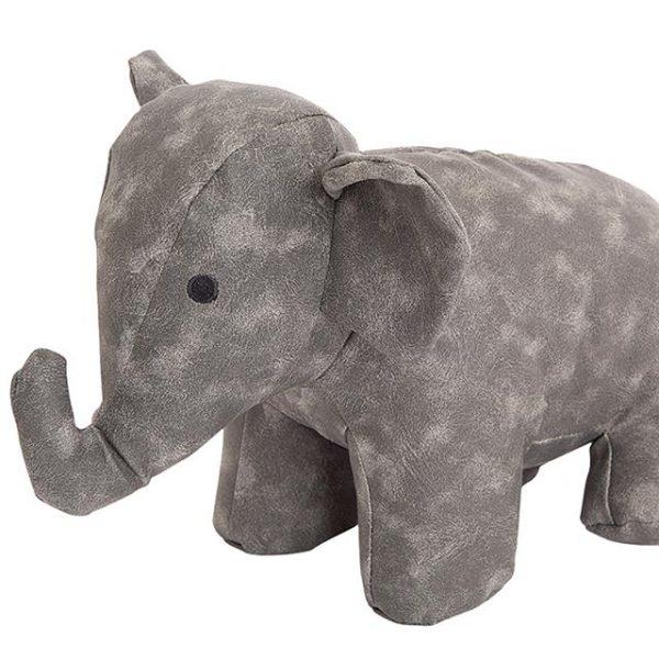 grey suede elephant doorstop