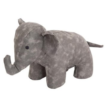 grey elephant doorstop