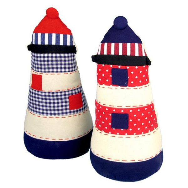 colourful lighthouse doorstop designs