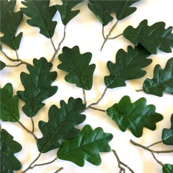 small green artificial oak leaves